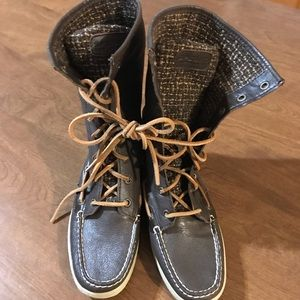 Sperry Topsider leather boots NWOT 7M